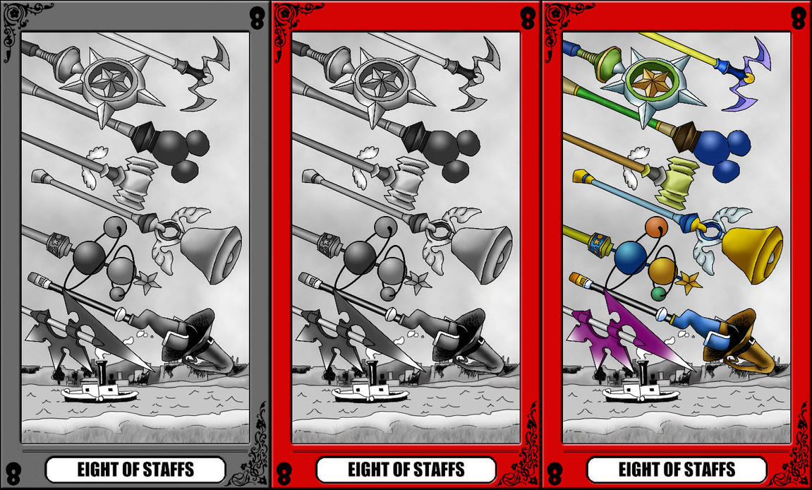 KH Tarot: Eight of Staffs by way2thedawn