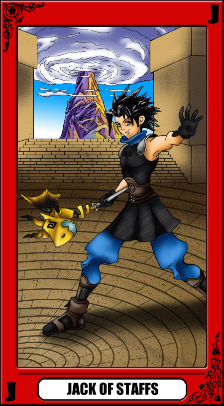 KH Tarot: Jack of Staffs by way2thedawn