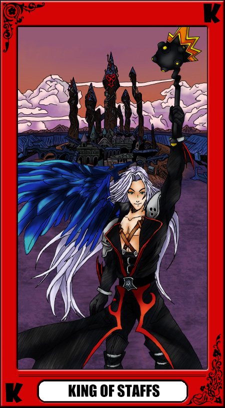 KH Tarot: King of Staffs by way2thedawn