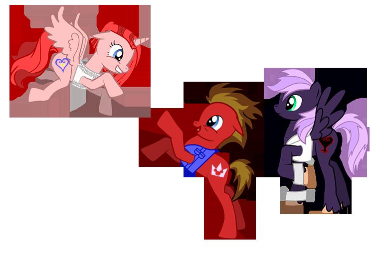 Destiny Island Trio Ponies by way2thedawn