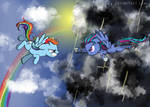 Rainbow Dash and Grayscale Force