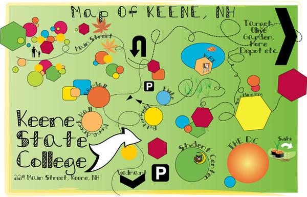My Keene State Map. by missQuasty on DeviantArt on mount saint mary college map, salve regina college map, keene new hampshire college, reinhardt college map, franklin pierce college map, daniel webster college map, st anselm college map, vermont technical college map, university of maine at farmington map, kuyper college map, saint joseph's college map, college of the holy cross map, northern essex community college map, saint michael's college map, malone college map, presentation college map, granite state college map, nashua community college map, american international college map, peace college map,