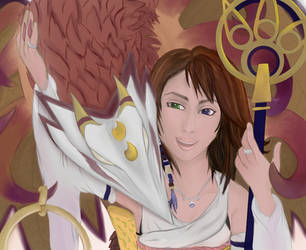 Summoner Yuna  Valefor by A----A----A