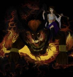 Summoner Yuna and Ifrit