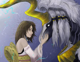 Summoner Yuna and Ixion