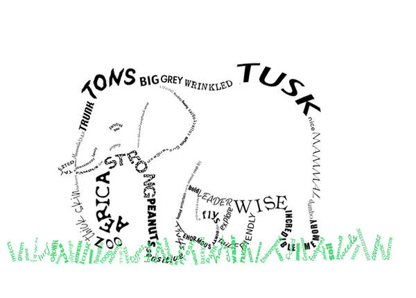 Elephant Typography by Rollingboxes