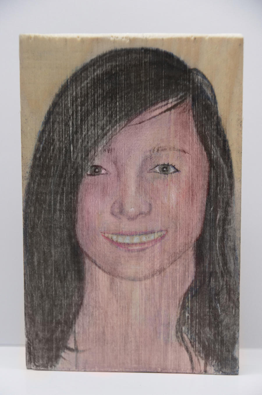 Wood Drawing Color Colored Pencil Drawing on