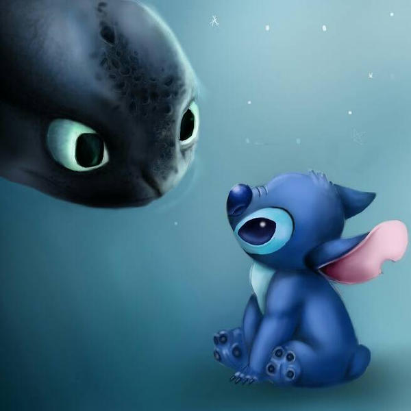 Toothless Wallpaper: Toothless' And Stitch's Love By 00PaulaMB On DeviantArt