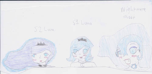 Princess Luna(s) and a Nightmare Moon (human)