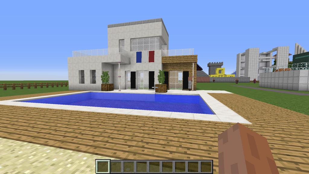 Villa minecraft by intello01 on deviantart for Minecraft modernes haus 20x20