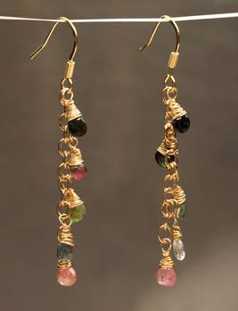 Gold Tourmaline Dangles