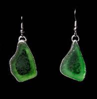 Sea Glass Earrings by SoulStoneDesigns