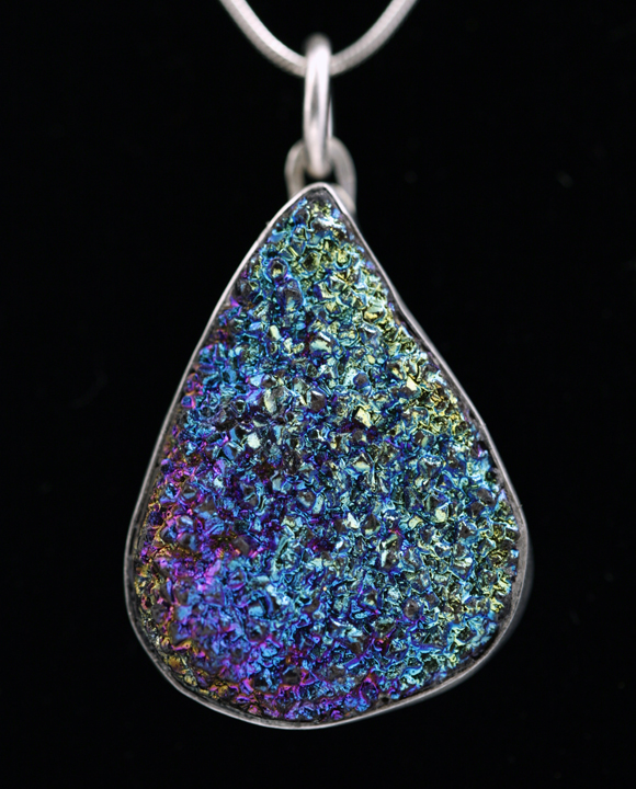 Peacock Druzy Pendant by SoulStoneDesigns
