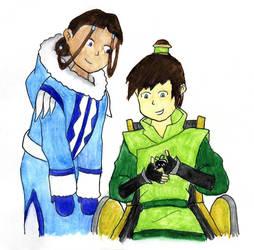 Katara and Teo by saraistarr