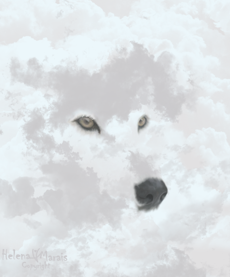 White Spirit Wolf by Anuden
