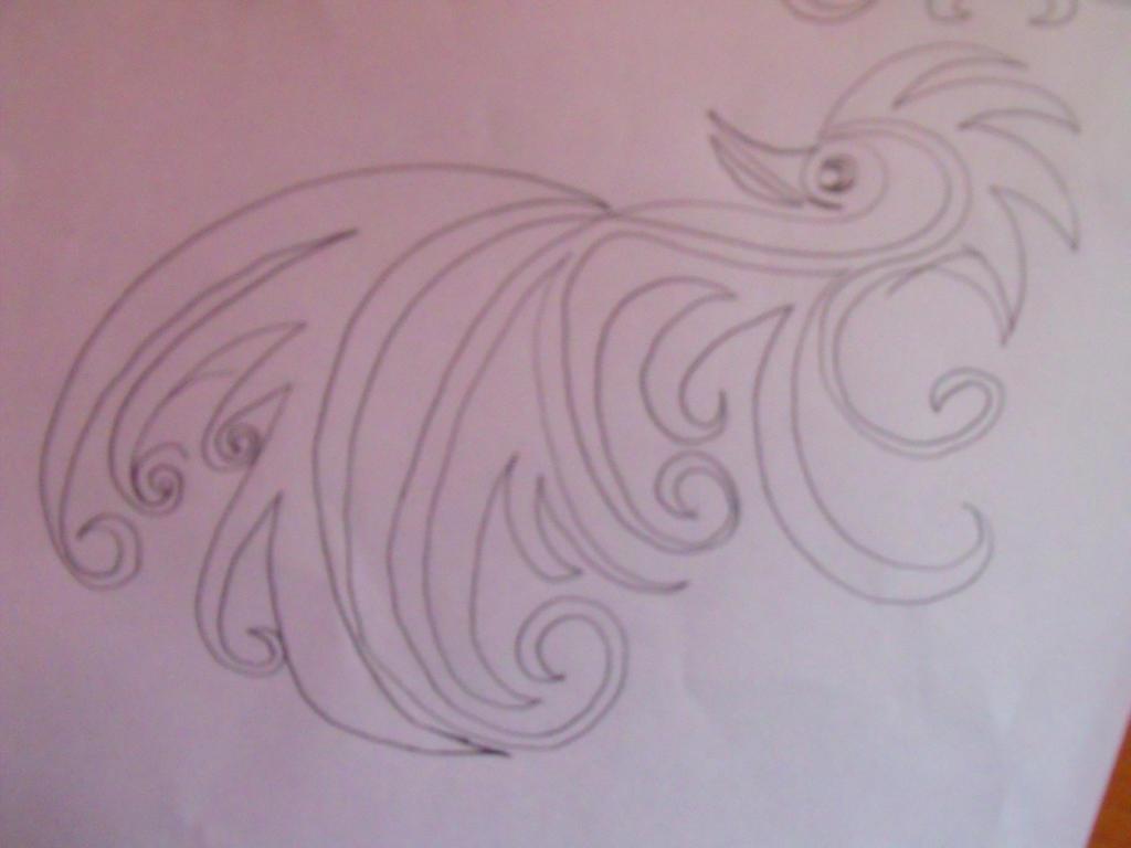 Doodle phoenix by Anuden