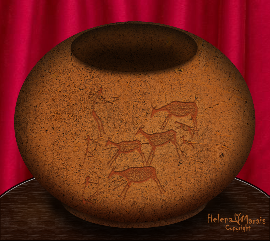 African Clay pot by Anuden