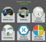 Icons for website by Anuden