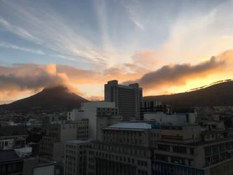 City sunset by Anuden