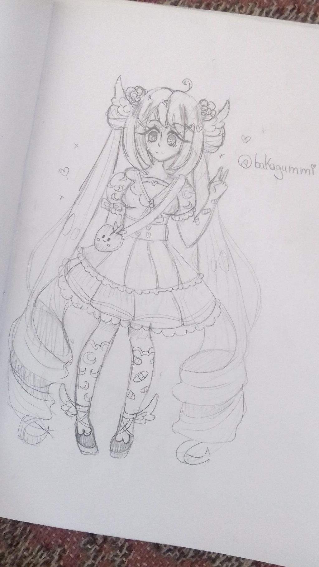 Anime oc wip  by bakagummi