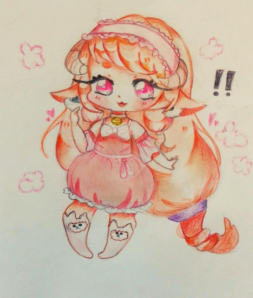 at - you say I'm cute ?  by bakagummi