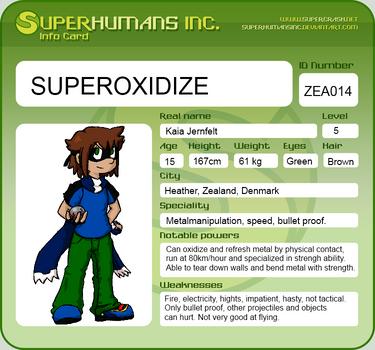 Info card: Superoxidize by DarkDrawerCompany