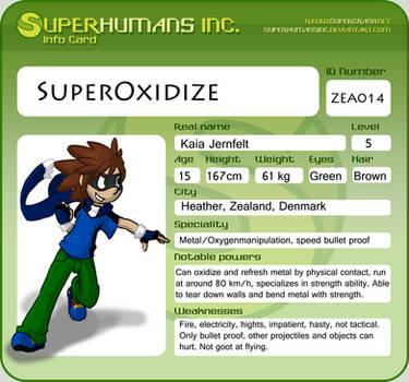 Info card 2: Superoxidize by DarkDrawerCompany