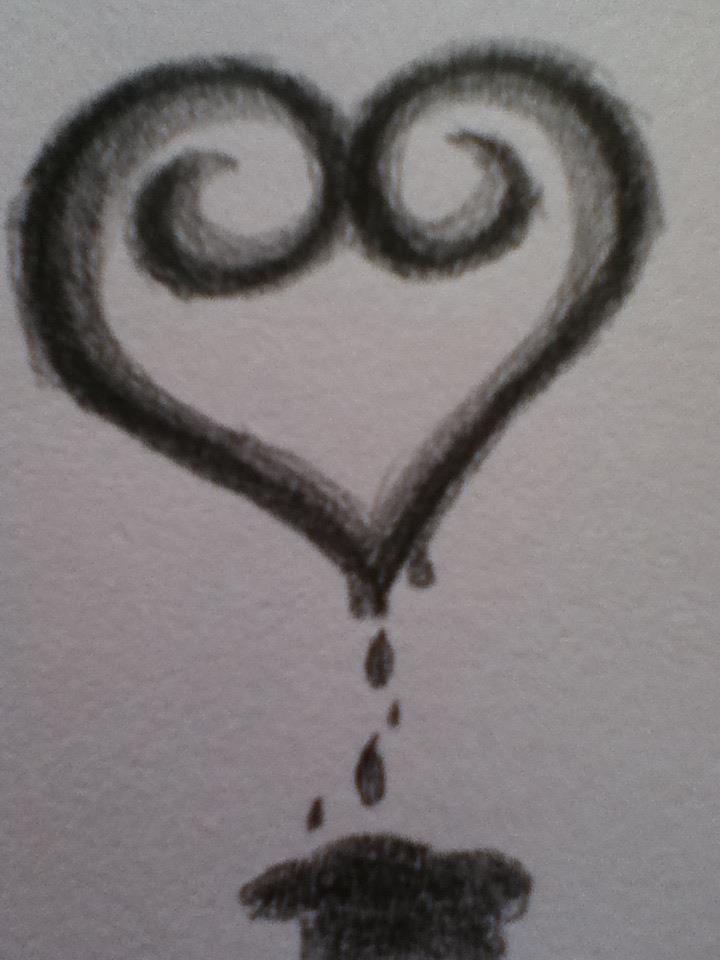 bleeding ink heart by DarkAceInfinity