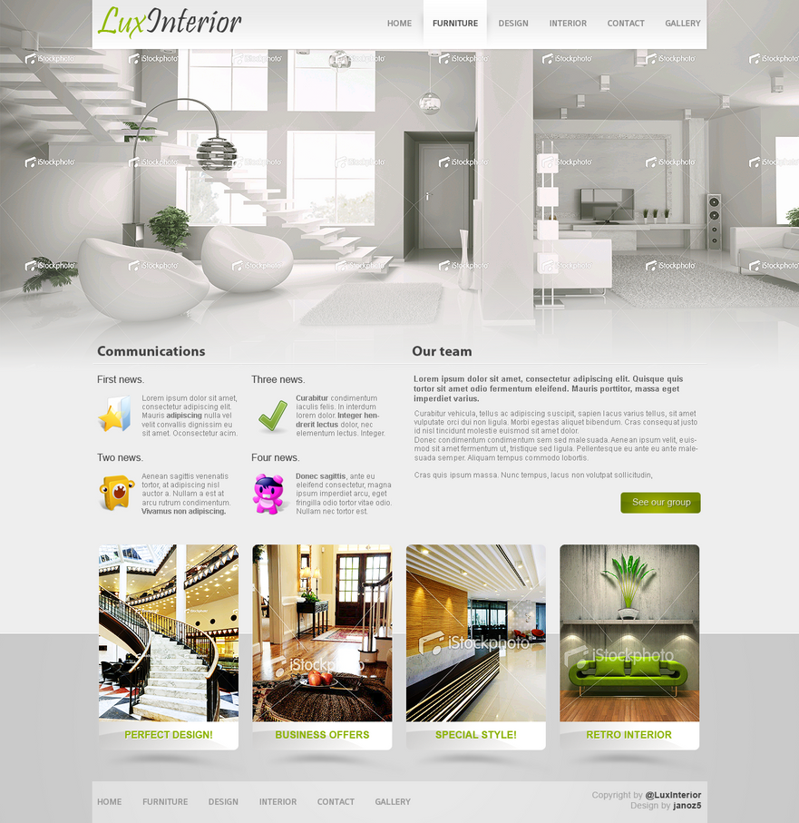 Web interface roundup of web design inspiration design for Interior design websites