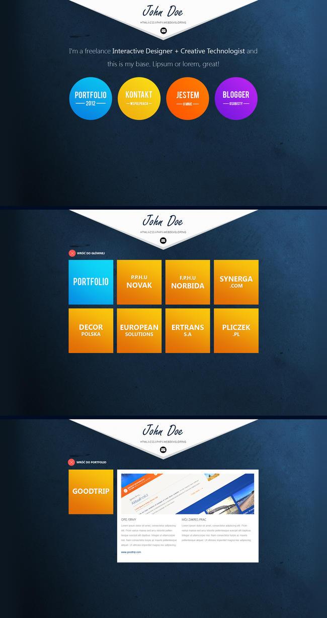 Simple portfolio by janoz5