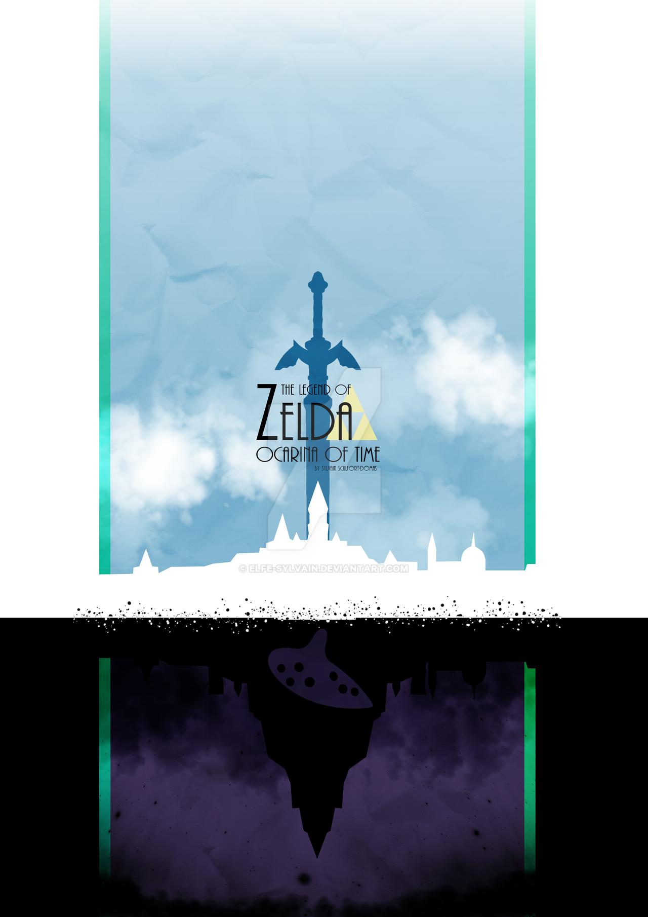 The legend of zelda ocarina of time poster