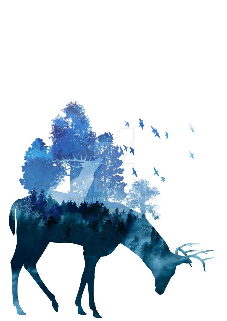 Blue Deer by CWcanine