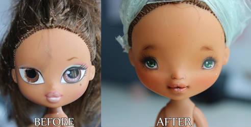 Bratz Kidz Yasmin repainted and transformed