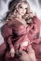 Magdalena in Desert Rose Peignoir Set by amadiz