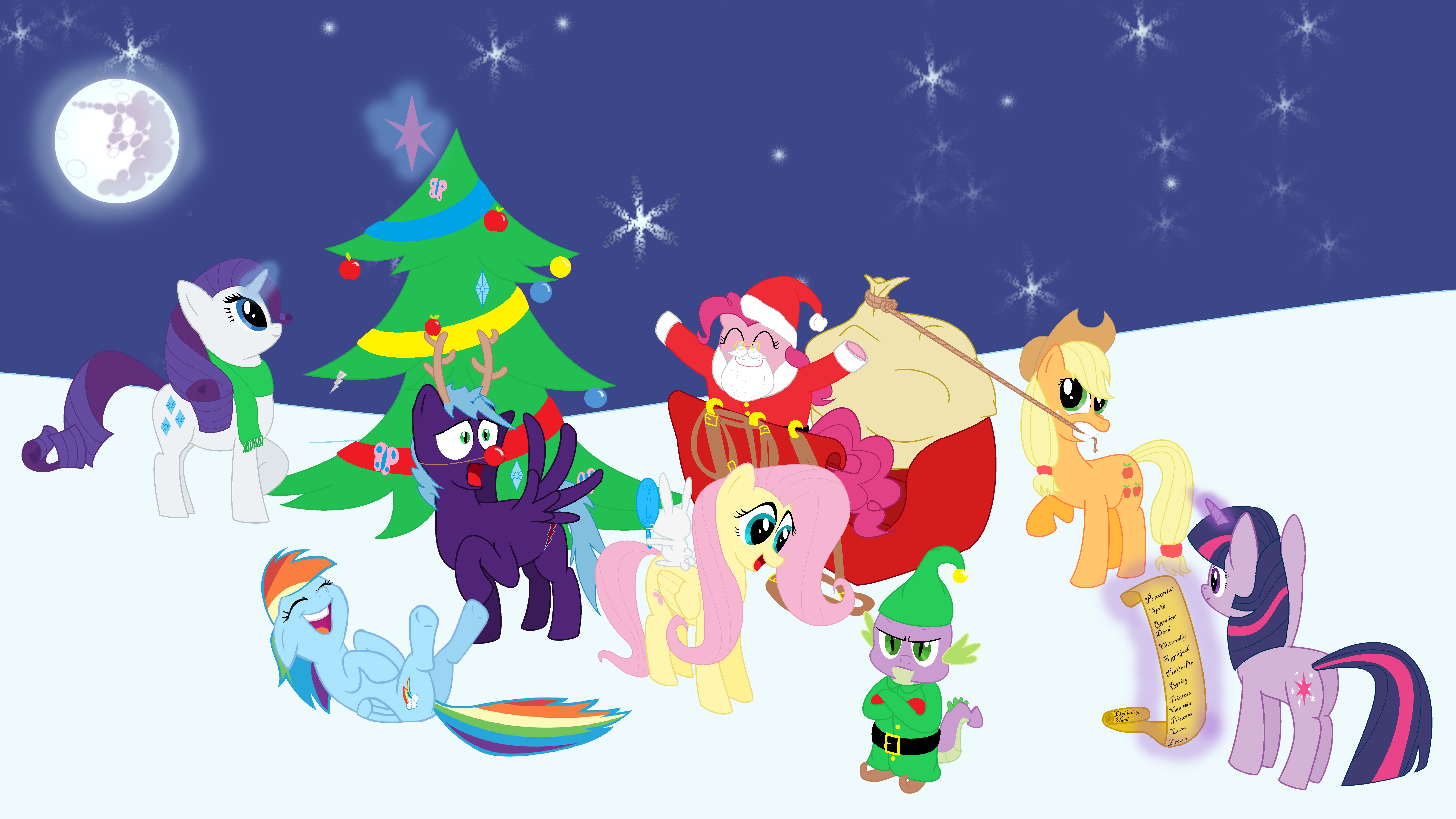 Wallpaper By Lightning Slash Merry Christmas And Happy New Year