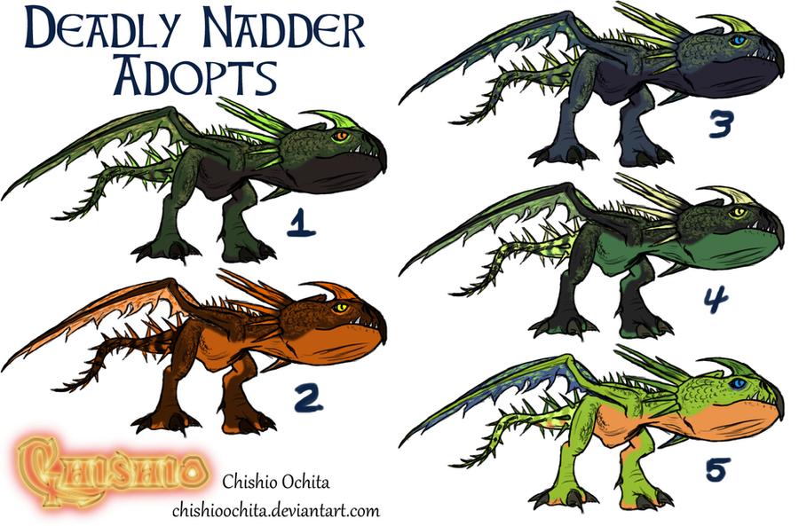 HTTYD: Deadly Nadder Adoptables (Open) By ChishioOchita On