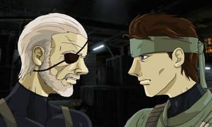 Big Boss vs Solid Snake