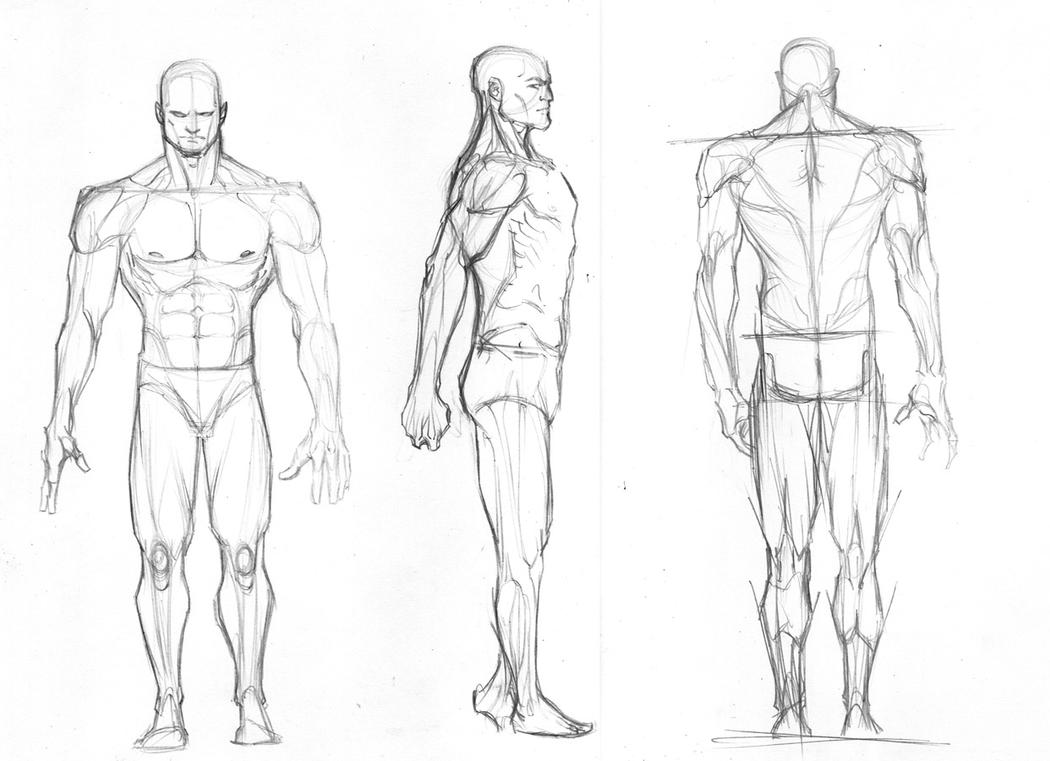 how to draw male fashion figures