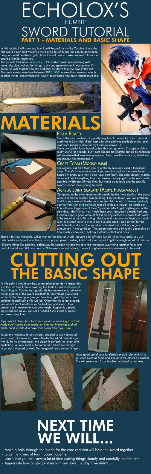 Cosplay Foam Sword Tutorial - Ike's Ragnell Part 1 by Echolox