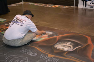 Chalk drawing at Star Wars Celebration VI by Aingeal11