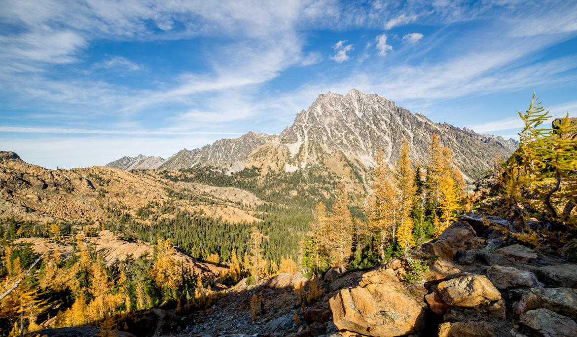 Mt. Stuart in Fall by shutterphoenix