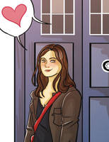 Clara And The Tardis by pinkwater1211