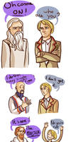 The fifth doctor and the master