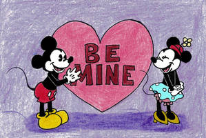 Mickey x Minnie Valentine 2018 by WishExpedition23