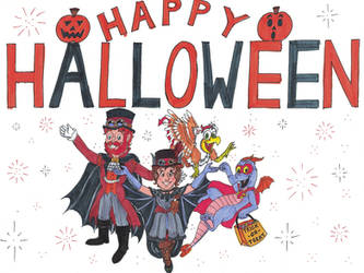 Inktober 2019 #31 - Happy Halloween by WishExpedition23