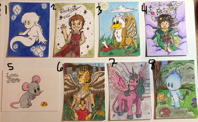 Art Trading Cards OPEN SALE - My OCs by WishExpedition23