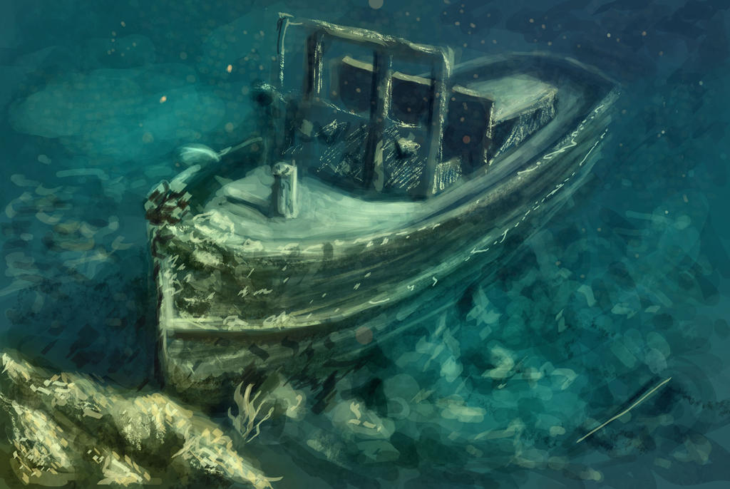 Sunken Ship By Elufie On Deviantart