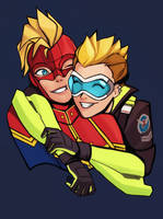 Cute Pilots with Mohawks that go FAST by QTori