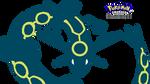 Pokemon Emerald Title Screen Rayquaza redrawn