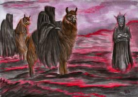 Wraiths on Llamas by shadowlotr